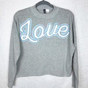 """Appliquéd """"LOVE"""" letters 💙🤍💙"""
